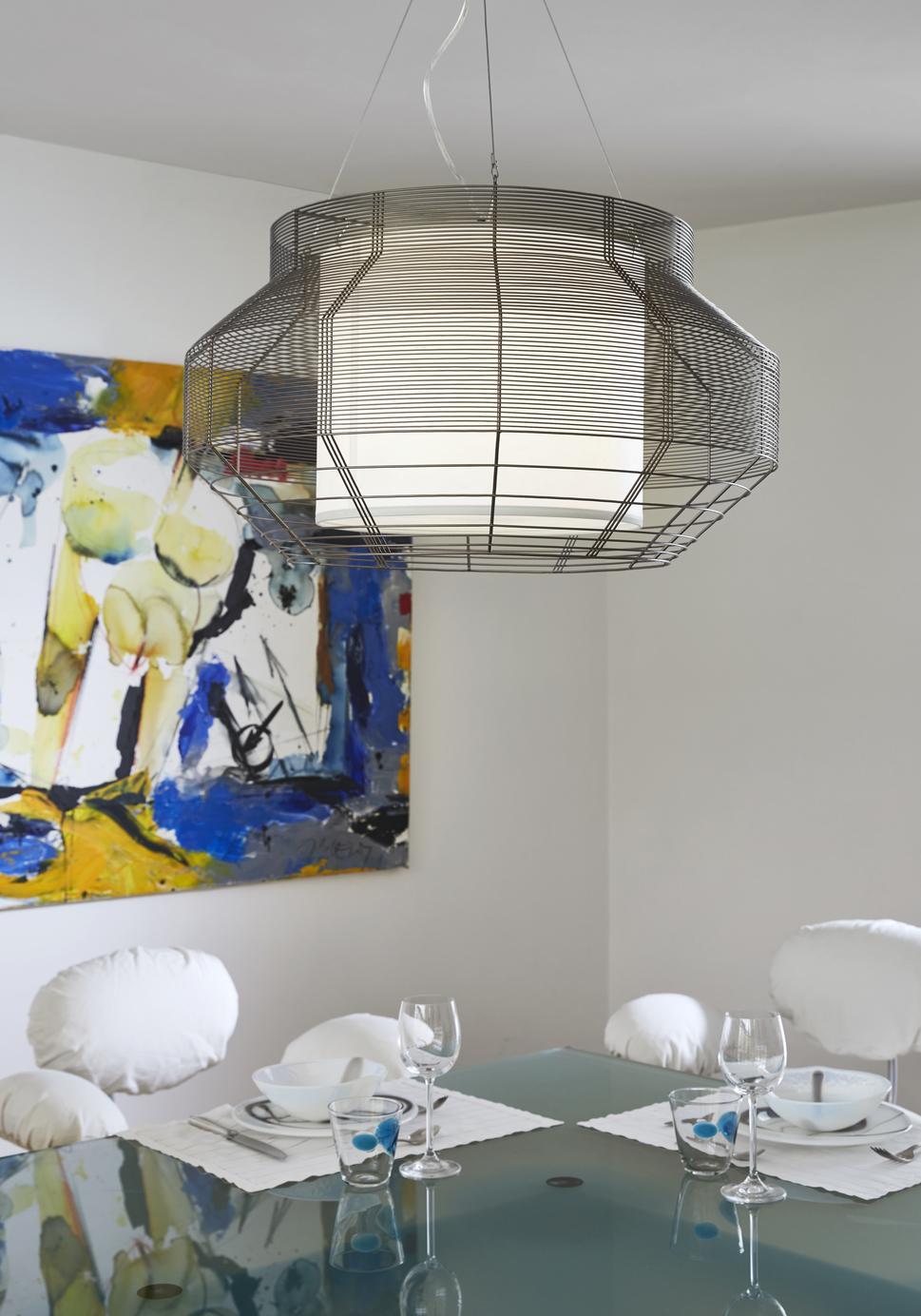 suspension mesh l cuivre rose. Black Bedroom Furniture Sets. Home Design Ideas