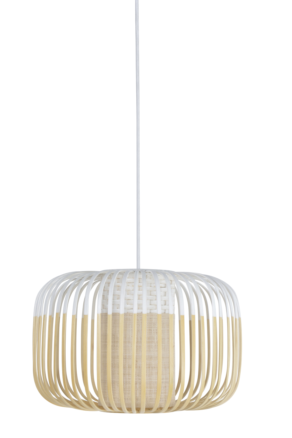 Suspension Bamboo Light S Blanc